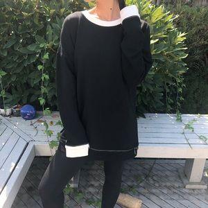 Worth Newyork black and white zipper sweater